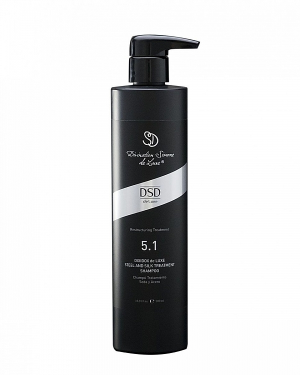 Восстанавливающий шампунь сталь и шёлк Диксидокс Де Люкс Dixidox de Luxe steel and silk treatment shampoo 500 мл